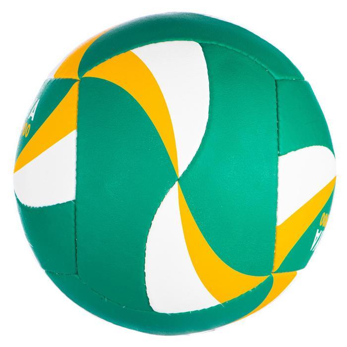 Ballon de beach-volley BV900 FIVB vert et jaune