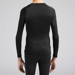 Thermoshirt kind Keepdry 100 lange mouw zwart