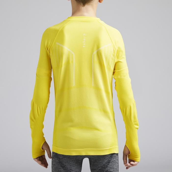 Thermoshirt kind Keepdry 500 lange mouw geel