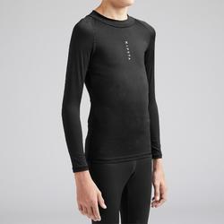 Sous-vêtement haut thermique enfant Keepdry 100 chaud noir