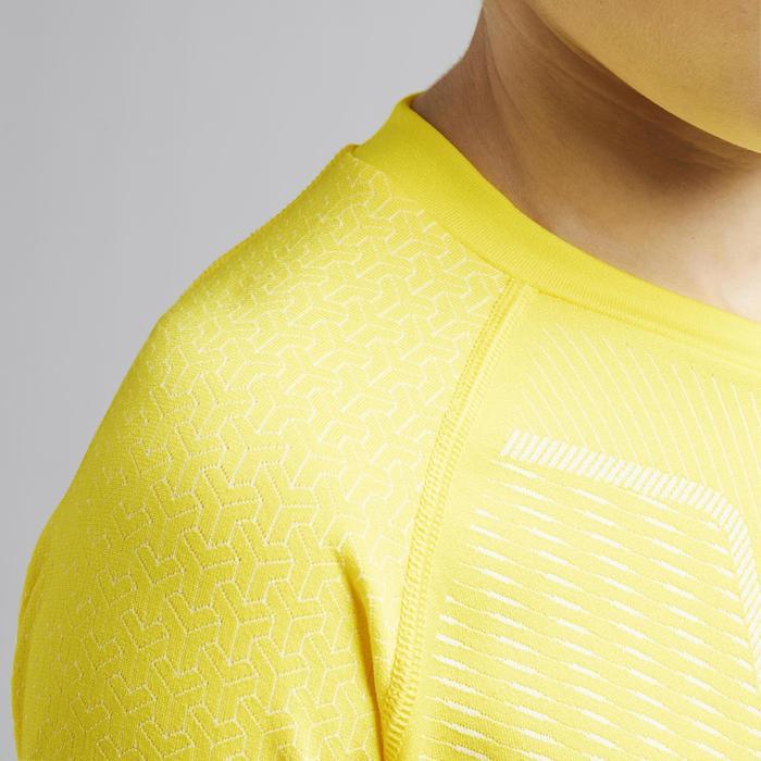 Funktionsshirt langarm Keepdry 500 atmungsaktiv Kinder gelb