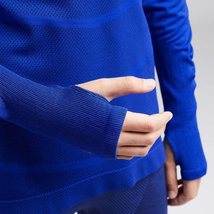 Funktionsshirt langarm Keepdry 500 atmungsaktiv Kinder indigoblau