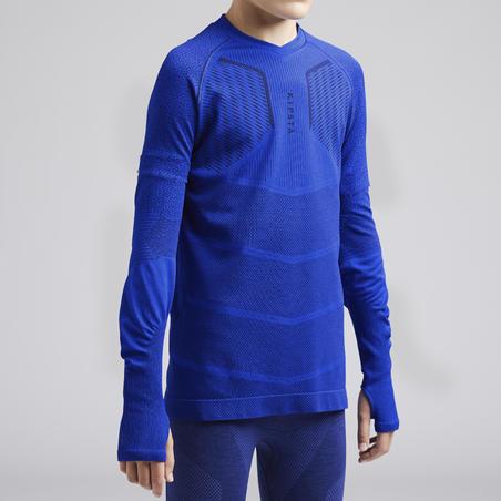 חולצת בסיס Keepdry 500 לילדים - כחול אינדיגו