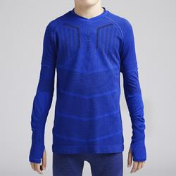 Voetbalondershirt voor kinderen Keepdry 500 indigoblauw