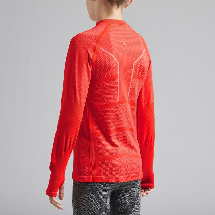 Thermoshirt kind Keepdry 500 lange mouw rood