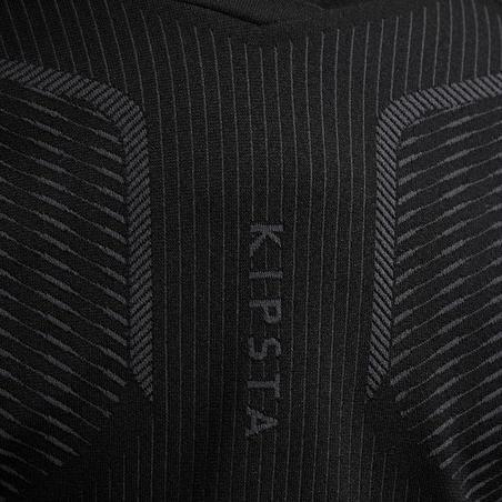 Kids' Long-Sleeved Football Base Layer Keepdry 500 - Black