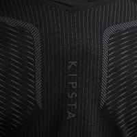 חולצת בסיס ארוכה נושמת לילדים Keepdry 500 - שחור
