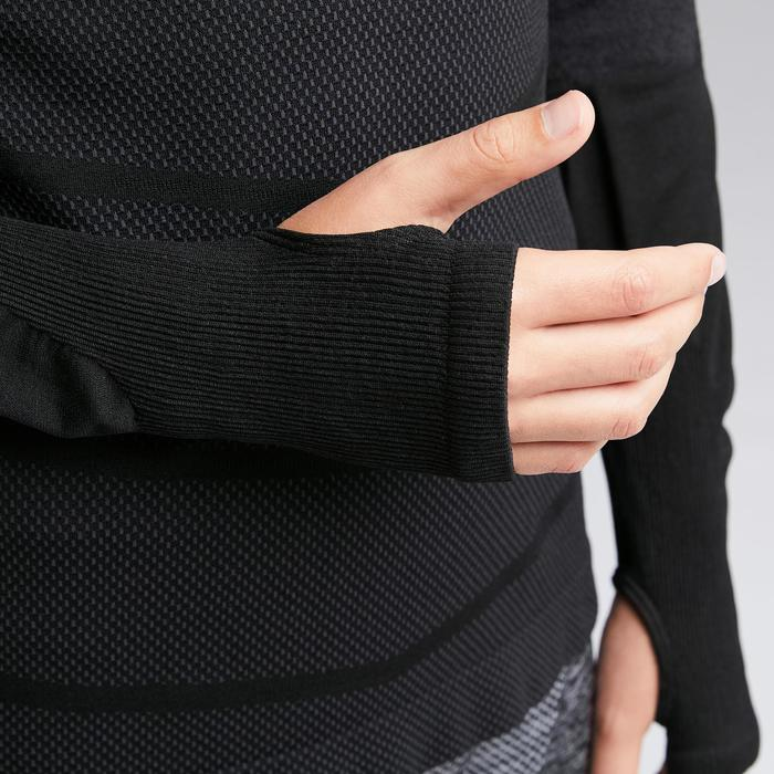 Funktionsshirt Keepdry 500 atmungsaktiv Kinder schwarz