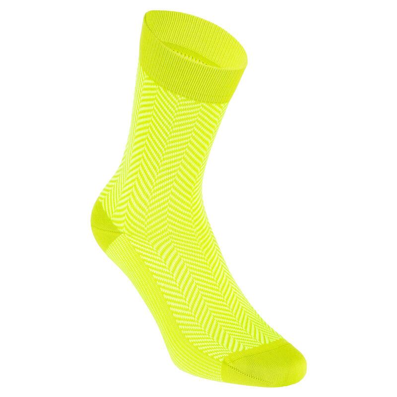 Summer Road Cycling Socks 520 - Yellow