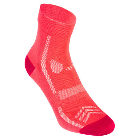 Summer Road Cycling Socks 500 - Pink