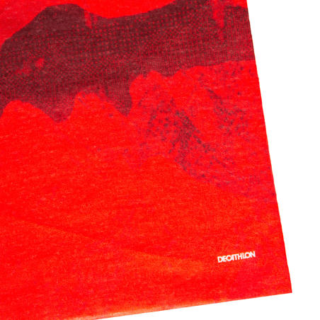 Penghangat Leher Bersepeda RoadR 100 - Merah/Burgundy