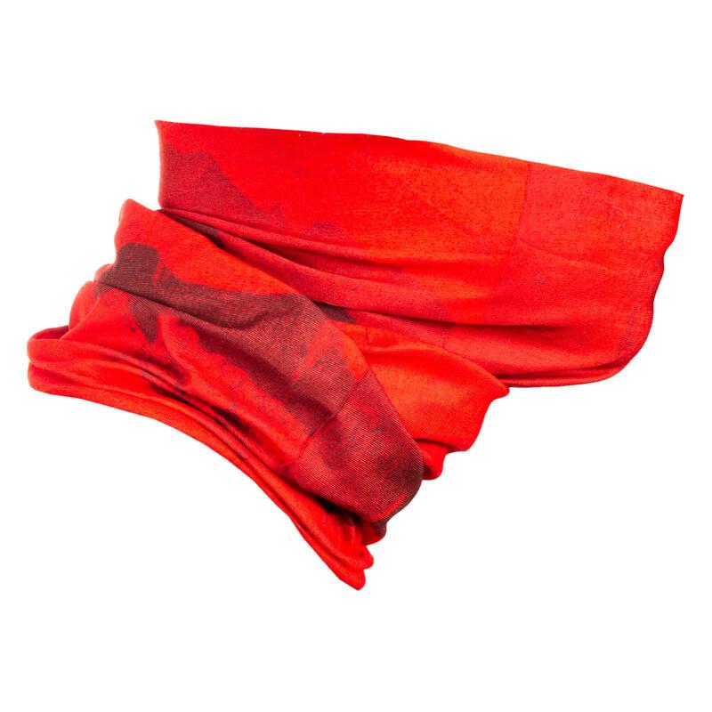 Fietsnekwarmer Roadr 100 rood en bordeauxrood