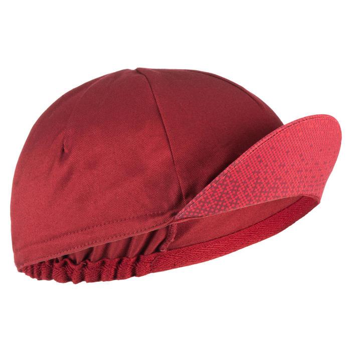 Fietspet Roadr 500 bordeaux en rood