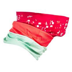 雙布料圍脖500-珊瑚紅/淺草綠