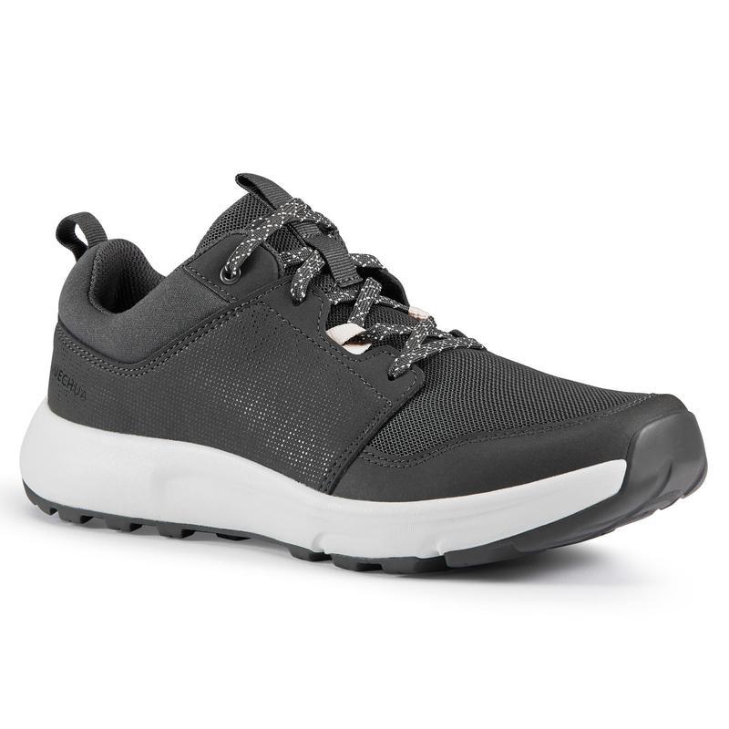 Zapatillas de Montaña y Trekking Ecodiseñadas, Quechua, NH150, Mujer, Gris