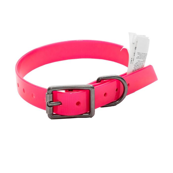 Collar Perro Caza Solognac 500 Ajustable Plastico Rosa Fluorescente