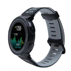 Pace GPS running watch and wrist heart rate monitor - black red