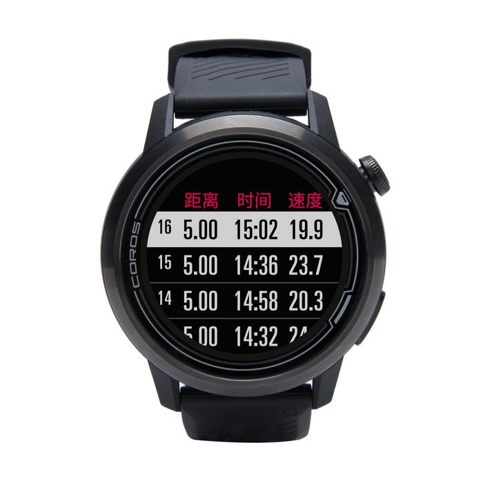Apex GPS multi-sport watch and wrist heart rate monitor - black