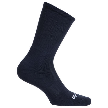 High Tennis Socks RS 500 Tri-Pack - Navy