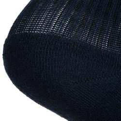 3雙入中高筒網球運動襪RS 500-海軍藍