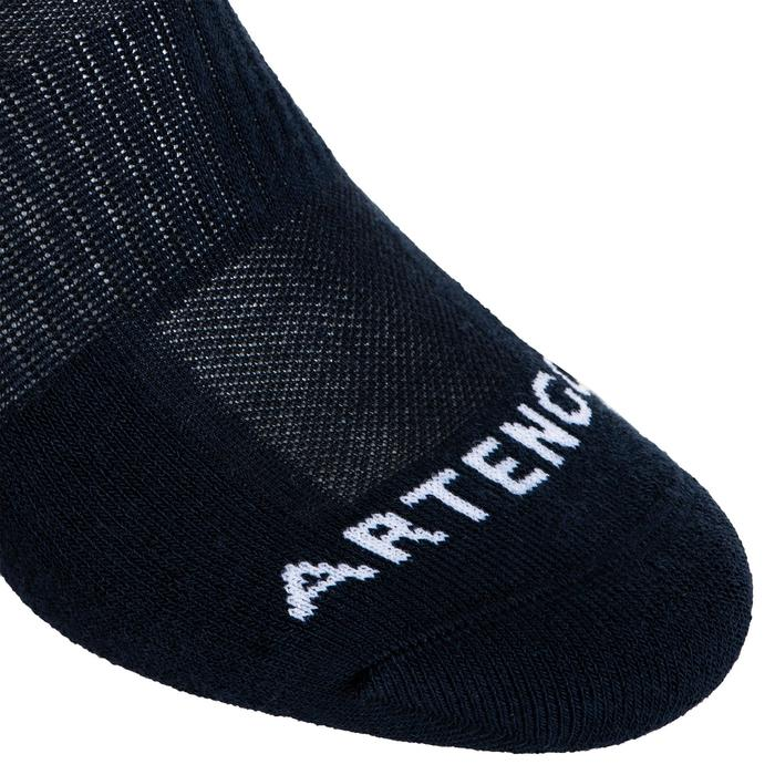 Mid-High Tennis Socks RS 500 Tri-Pack - Navy