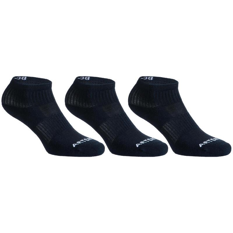 Mid-High Tennis Socks RS 500 Tri-Pack - Navy