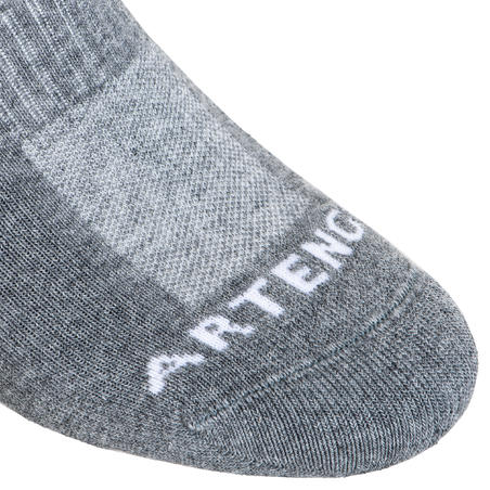 Low Tennis Socks RS 500 Tri-Pack - Grey