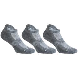 CHAUSSETTES DE TENNIS BASSES ARTENGO RS 500 GRIS LOT DE 3