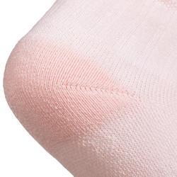 CHAUSSETTES TENNIS ENFANT MI-HAUTES ARTENGO RS 500 ROSE BLANC BLEU LOT DE 3