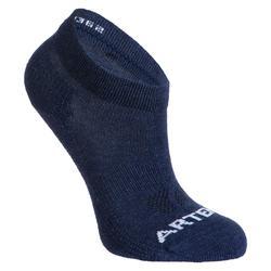 Kids' Mid Tennis Socks RS 160 Tri-Pack - Mottled Blue/Navy