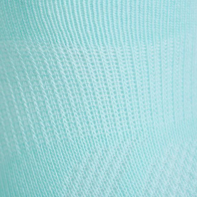 Kids' Low Tennis Socks RS 160 Tri-Pack - Green/White/Navy