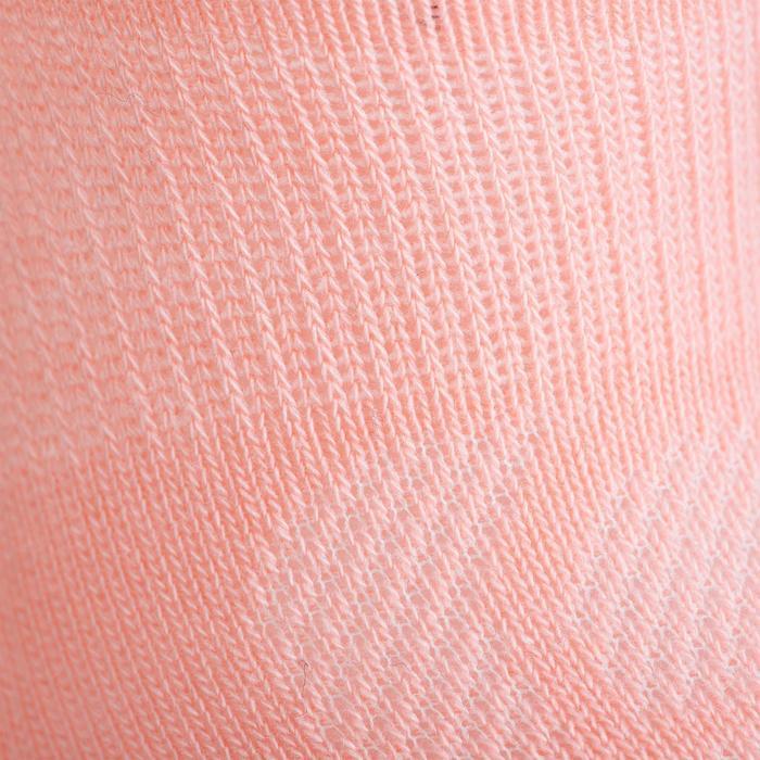 Lage tennissokken voor kinderen RS 160 roze/wit/marineblauw 3 paar