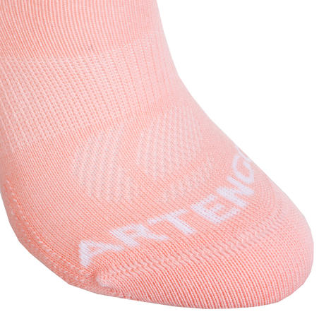 Kids' Low Tennis Socks RS 160 Tri-Pack - Pink/White/Navy