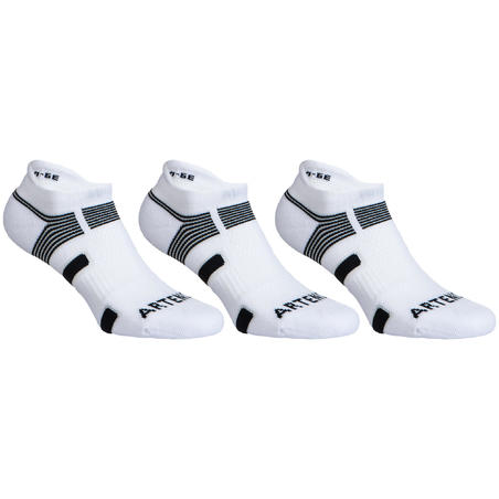Low Tennis Socks RS 560 Tri-Pack - White/Black