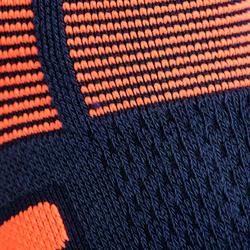 Halfhoge sportsokken Artengo RS 560 marine/oranje 3 paar