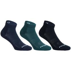 Mid-High Tennis Socks RS 160 Tri-Pack - Navy/Pine/Blue