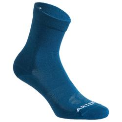 3雙入高筒網球運動襪RS 160-藍色/黑色/海軍藍