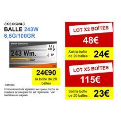 Balle 243 WINCHESTER 6,5G/100GRS X20