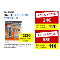 BALLE BRENNEKE CALIBRE 12 X10