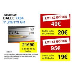 Balle 7x64 11,2G/173GRS X20