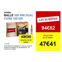 Munitions 300 WM Dual Core 180 grains