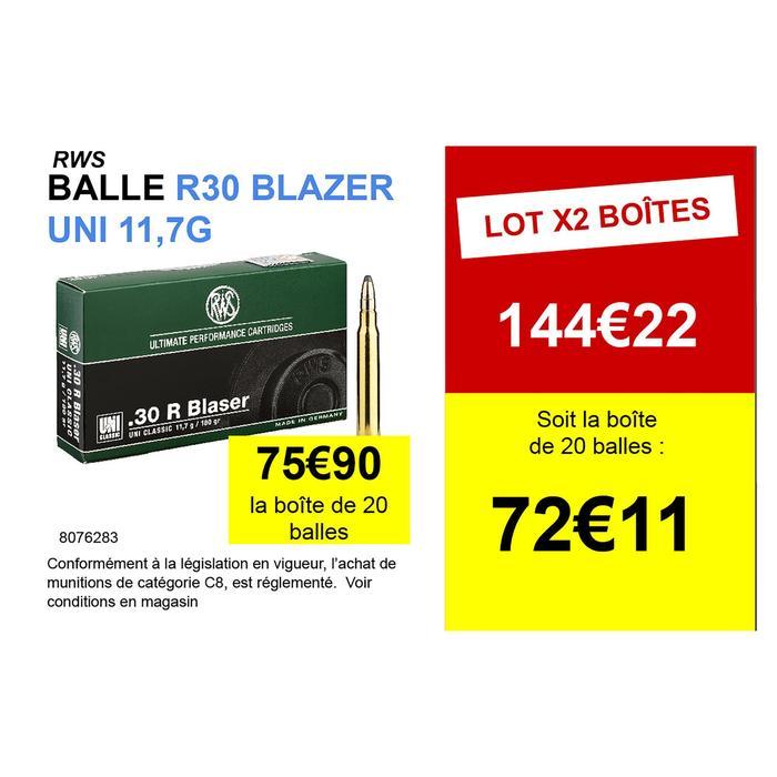 Munition RWS Calibre 30 R Blaser Uni 11.7g