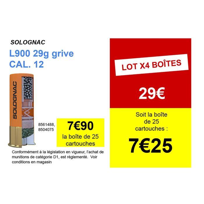 CARTOUCHE L900 29g SPÉCIALE GRIVE CALIBRE 12/70 PLOMB N°8 X25