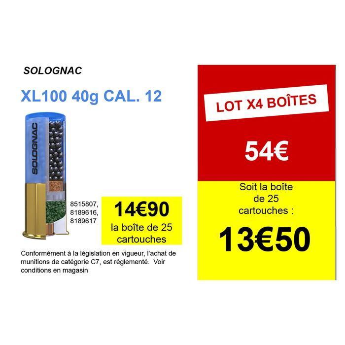CARTOUCHE XL100 40g CALIBRE 12/70 PLOMB N°4 X25