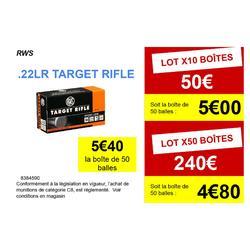 BALLE 22 Long Rifle Target Rifle RWS