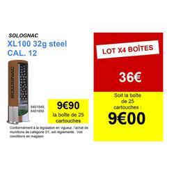 CARTOUCHE XL100 32g ACIER CAL12/70 N°4 X25
