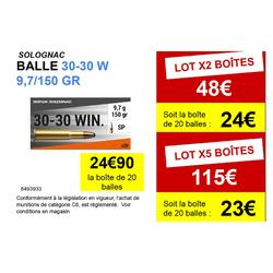 BALLE 30-30 W. 9,7g/150gr X20