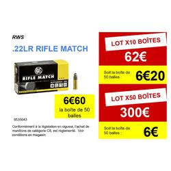 BALLE 22 LR Rifle Match RWS