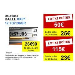 Balle 8x57 JRS 12,7G/196 GRS X20