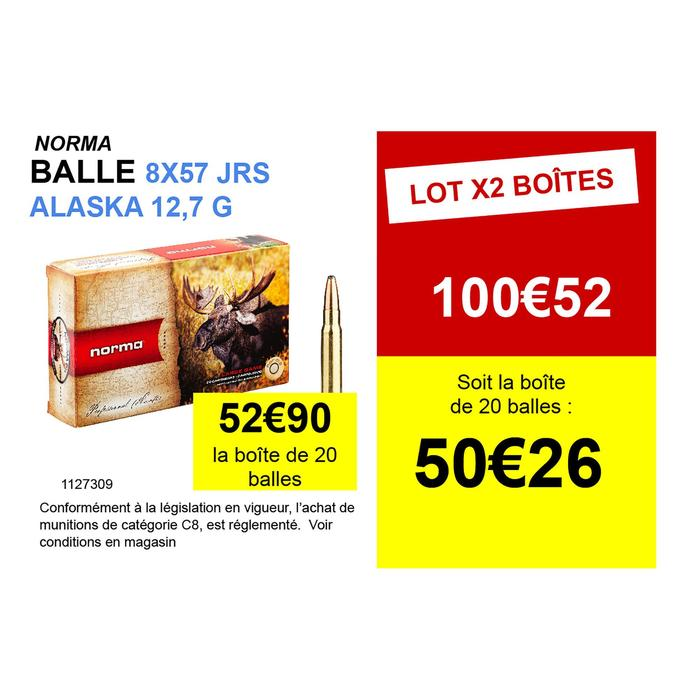 Cartouche 8x57JRS Alaska 12,7g